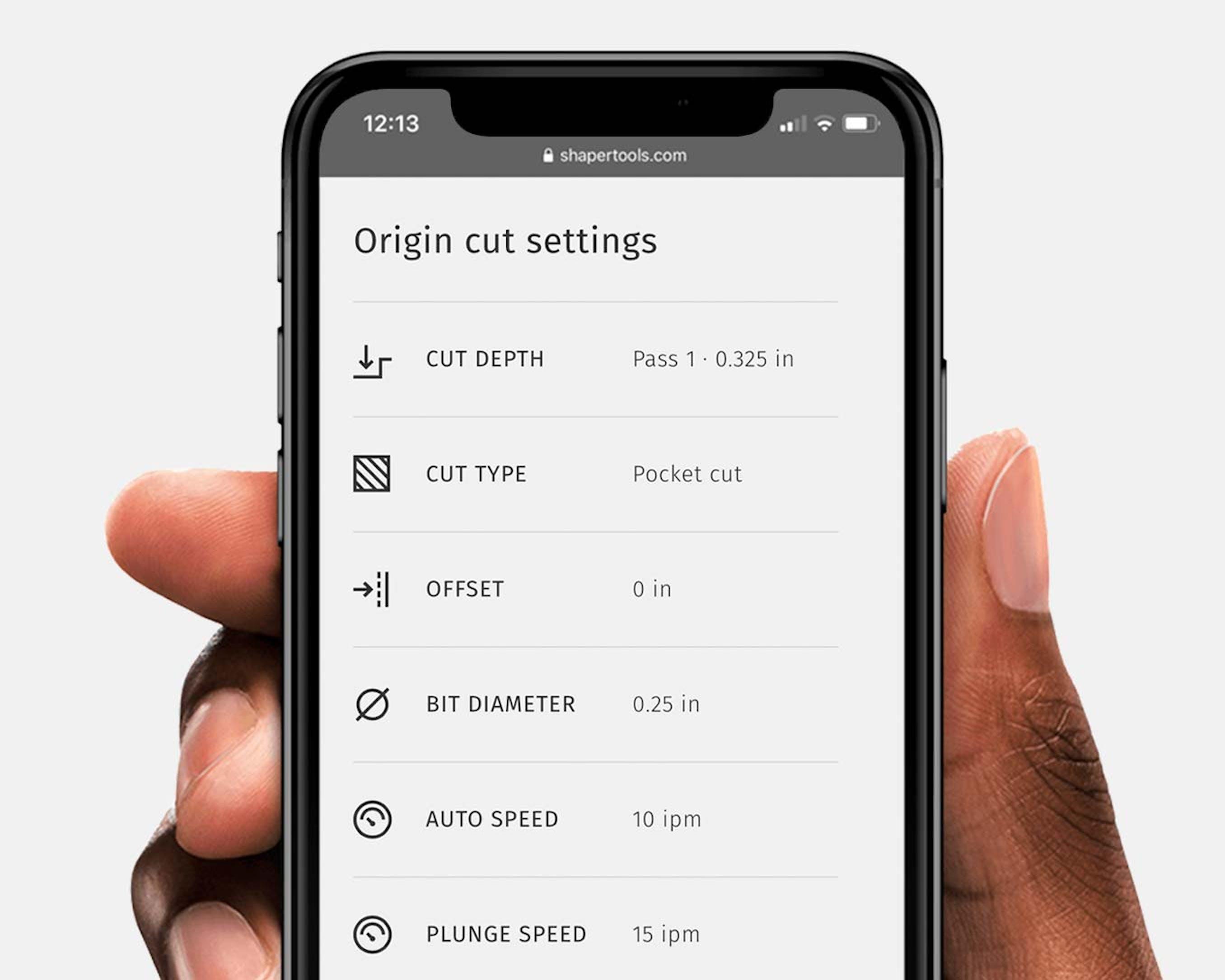 Origin Cut Settings